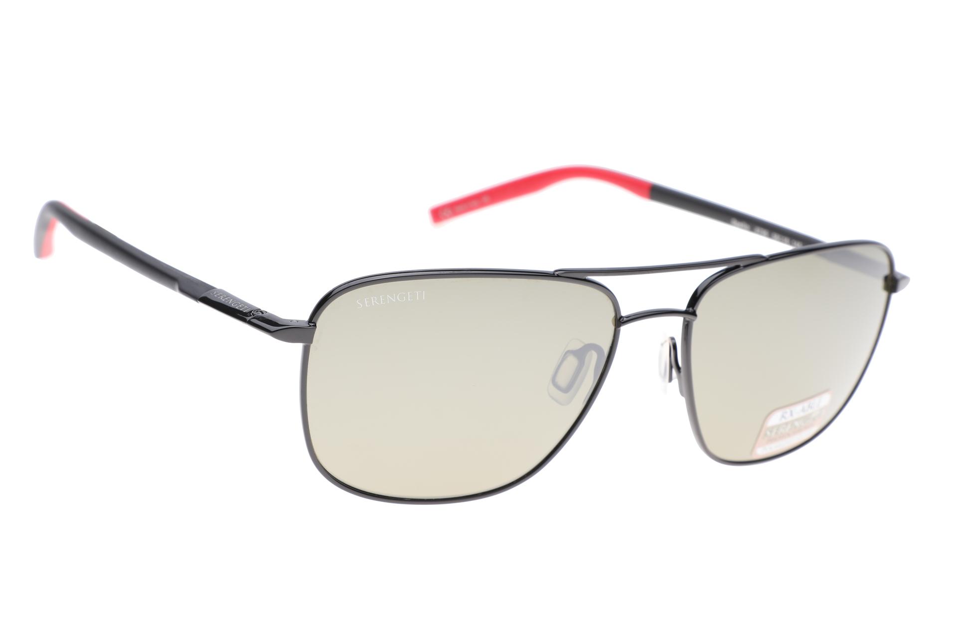 613ebdbba2cc75 Serengeti Spello 8796 (Shiny Black Black Red) Gepolariseerd zonnebril