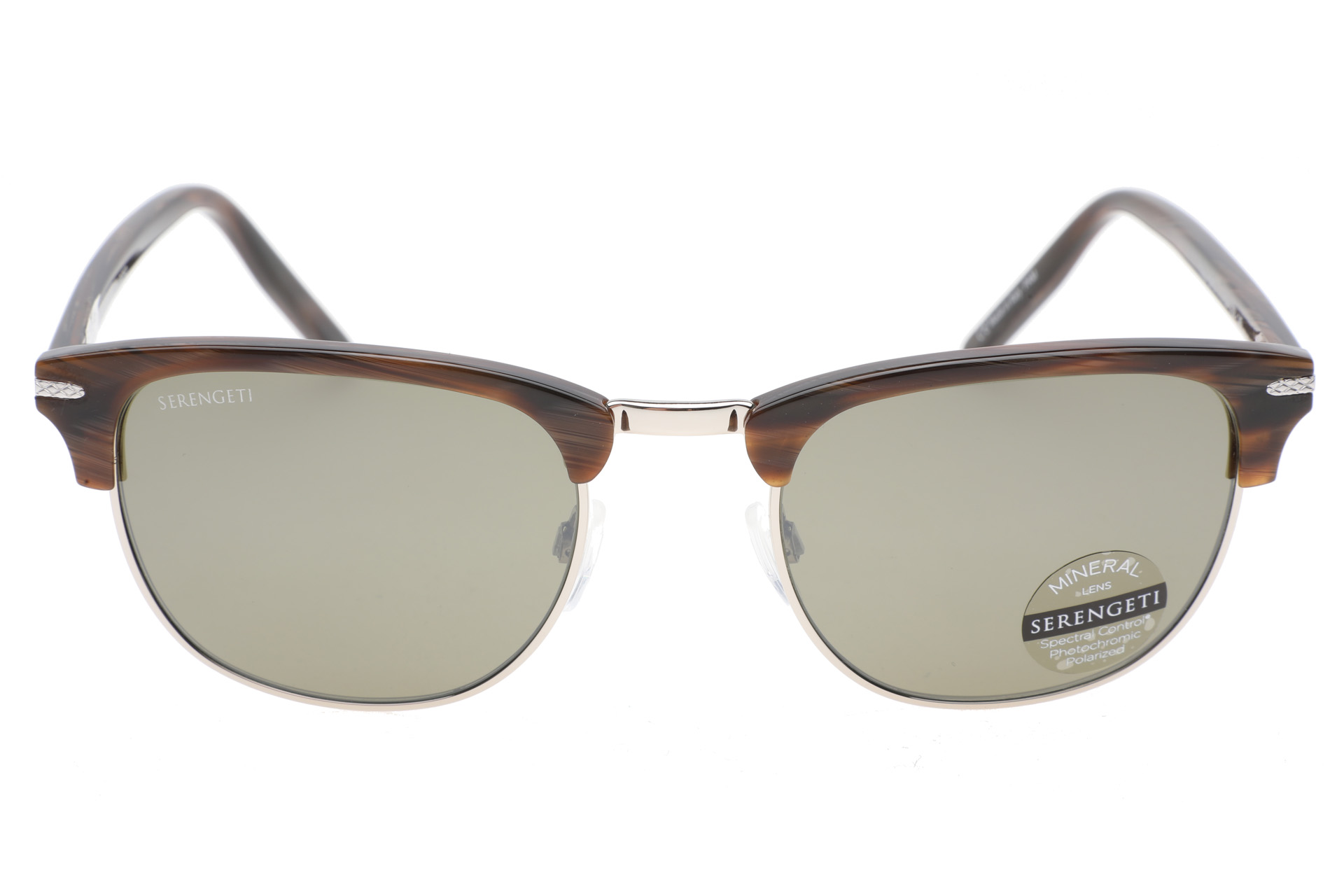 Serengeti Alray 8945 (Shiny Wood Grain / Shiny Silver) Gepolariseerd