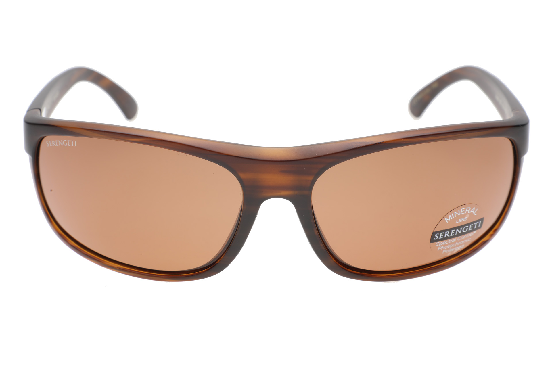 Serengeti Alessio 8972 (Matte Striped Brown) Gepolariseerd