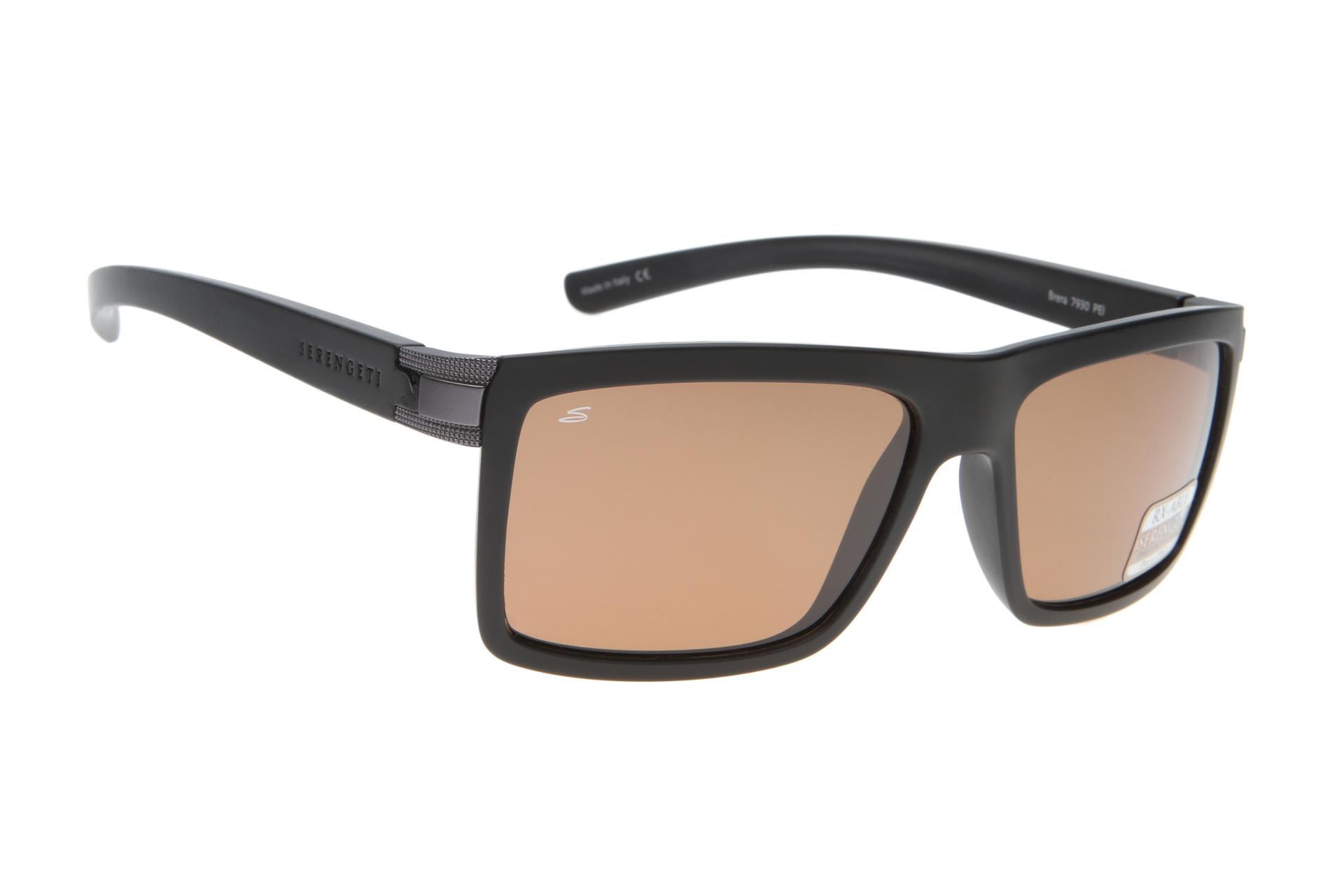 8582addfe8cdc1 Serengeti Brera 7930 (Sanded Reg Black) Gepolariseerd zonnebril