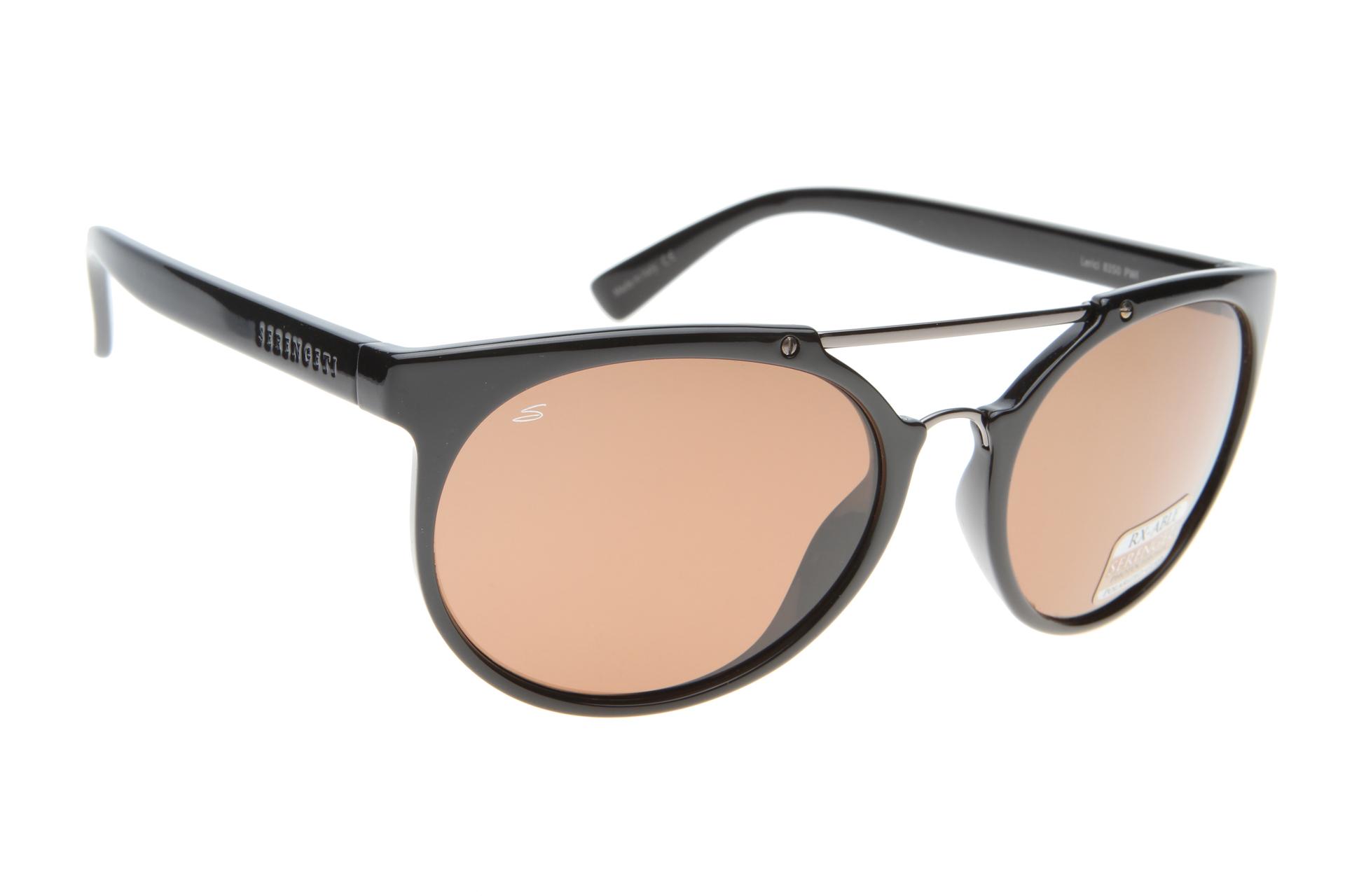 9b2bae8085cb52 Serengeti Lerici 8350 (Shiny Black) Gepolariseerd zonnebril