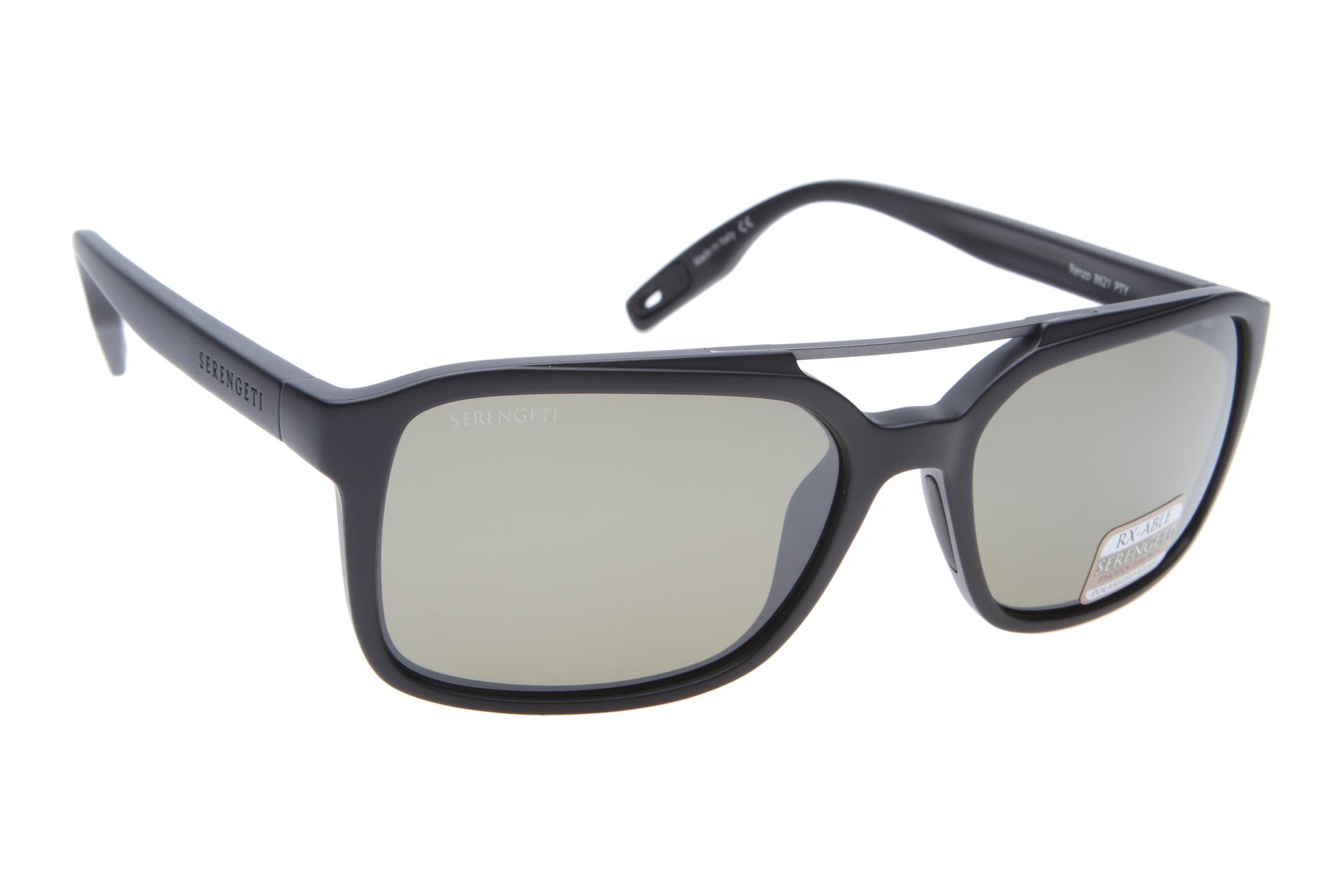 d79e0cba347 Serengeti Renzo 8621 (Satin Black Satin Dark Gunmetal) Gepol zonnebril