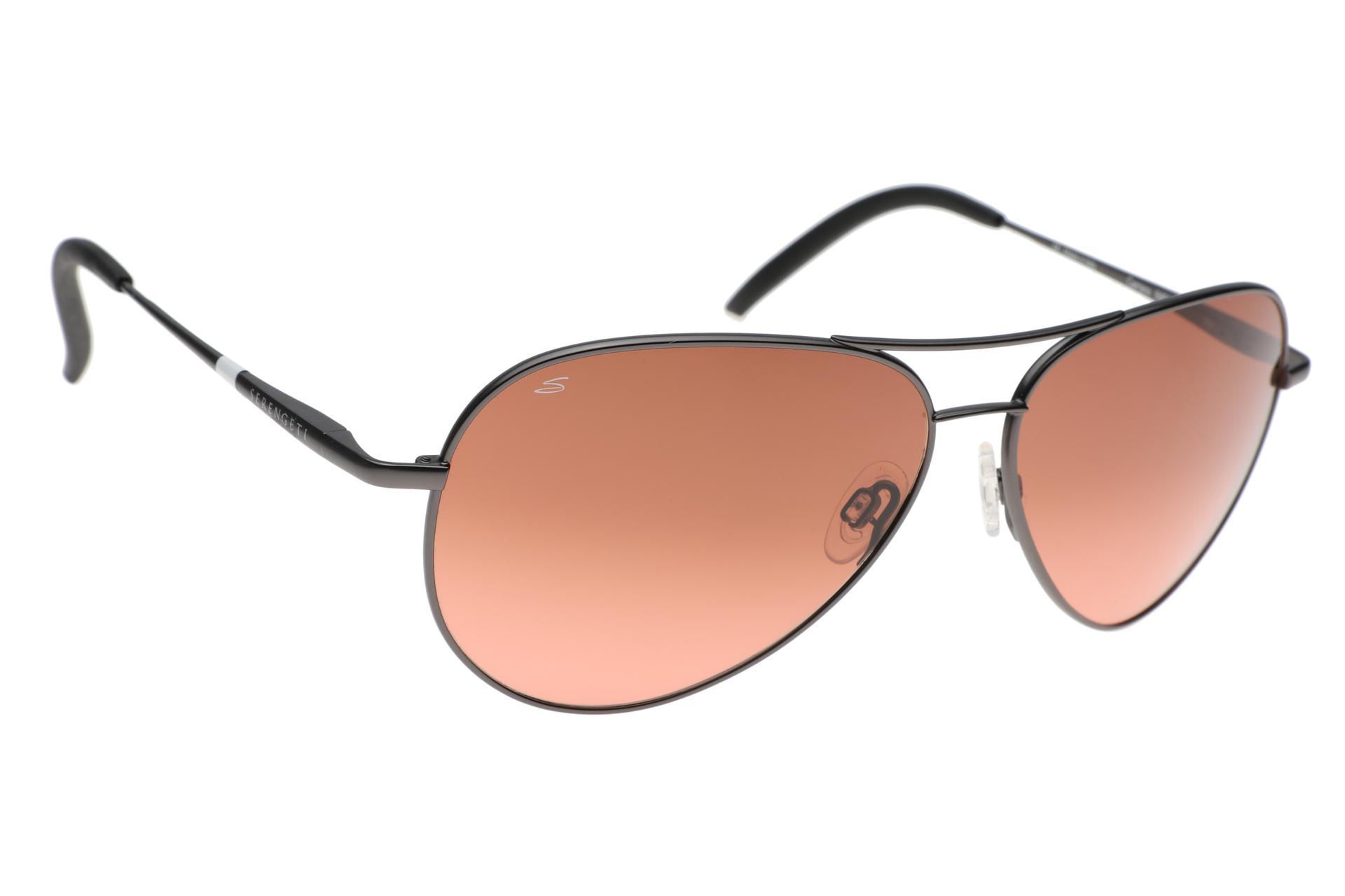 bc2737356f6 Serengeti Carrara Pilot 8453 (Satin Dark Gunmetal) Gradient zonnebril