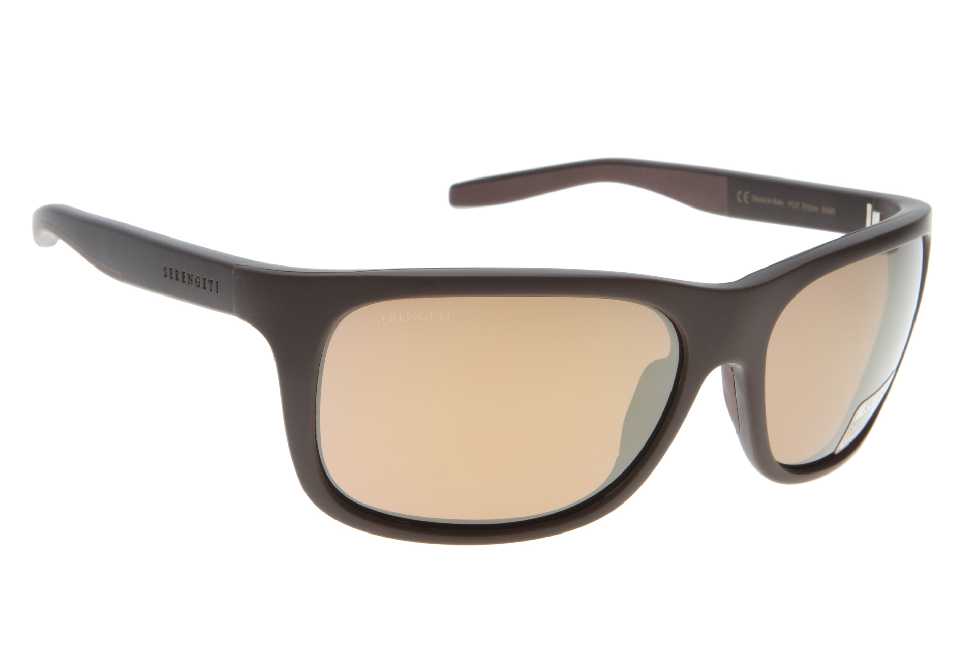 Serengeti Ettore 8688 (Sanded Brown/Dark Brown) Gepolariseerd, Spiegelcoating