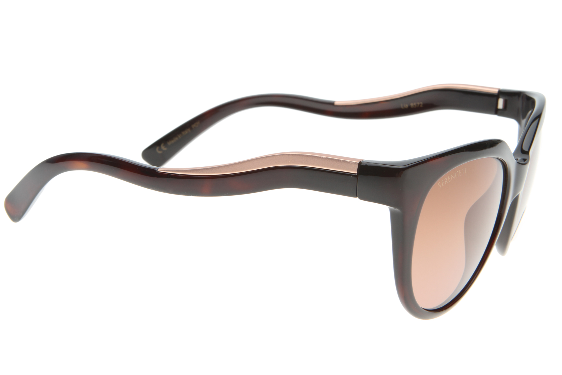 Serengeti Lia 8572 (Shiny Dark Tortoise/Satin Rose Gold) Gepolariseerd, Gradient