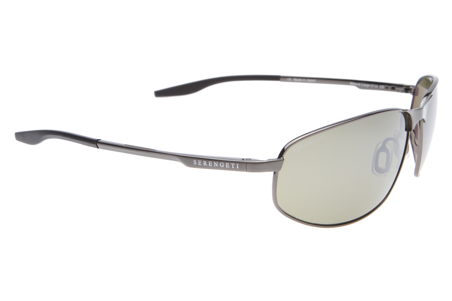 Serengeti Matera Large 8729 (Satin Black) Polarized, Spiegelcoating