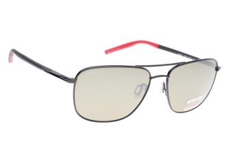 Serengeti Spello 8796 (Shiny Black/Black/Red) Gepolariseerd