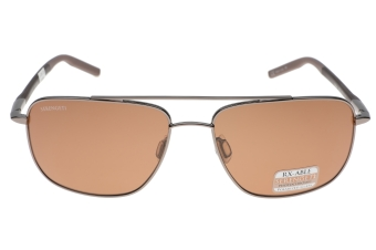 Serengeti Tellaro 8821 (Shiny Gunmetal/Dark Brown/Chocolate Brown) Gepolariseerd