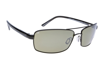 Serengeti San Remo 7604 (Satin Black/Grey Stripe) Gepolariseerd