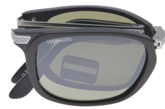 Serengeti Volare 8495 (Satin Black/Shiny Light Gunmetal) Gepolariseerd